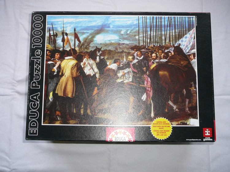 Image of the puzzle 10000, Educa, The Surrender of Breda, Sealed Bag, Picture of the box
