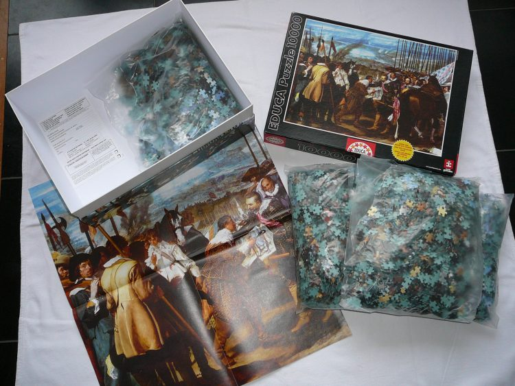 Image of the puzzle 10000, Educa, The Surrender of Breda, Sealed Bag, Picture of the contents