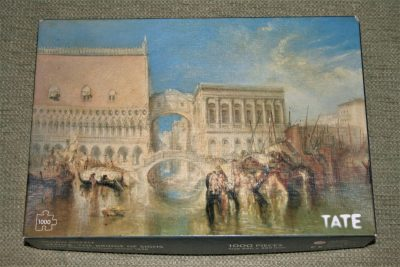Image of the puzzle 1000, Tate, Venice, The Bridge of Sighs, by William Turner, Complete, Picture of the box