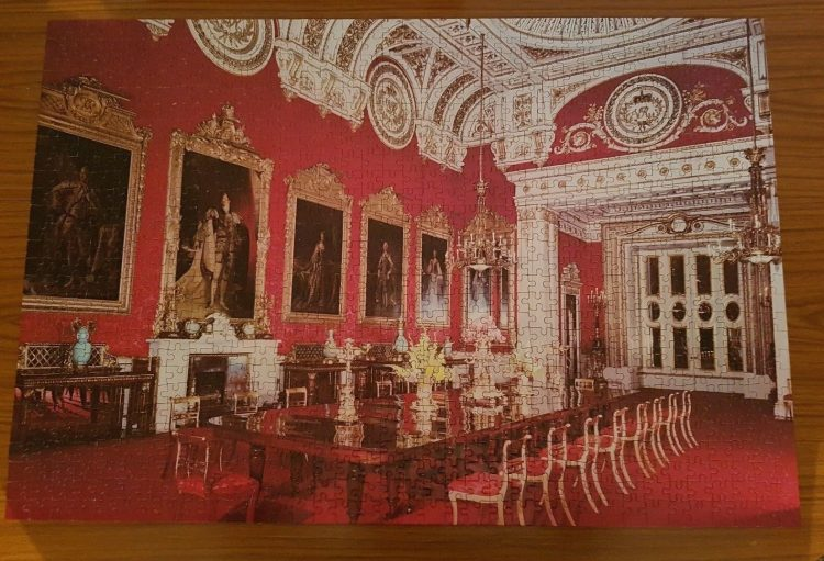 Image of the puzzle 1000, Arrow, Buckingham Palace, The State Dining Room, Complete, Picture of the puzzle assembled