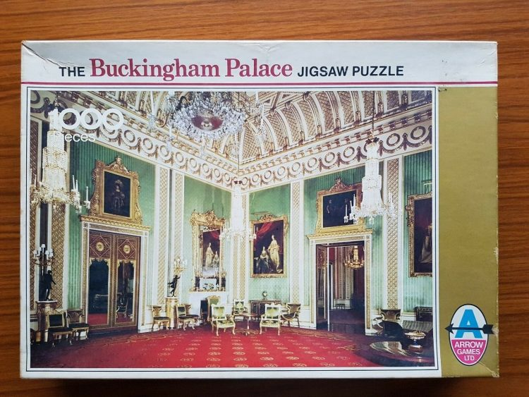Image of the puzzle 1000, Arrow, Buckingham Palace, The Green Dining Room, Complete, Picture of the box