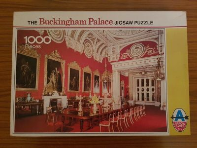 Image of the puzzle 1000, Arrow, Buckingham Palace, The State Dining Room, Complete, Picture of the box