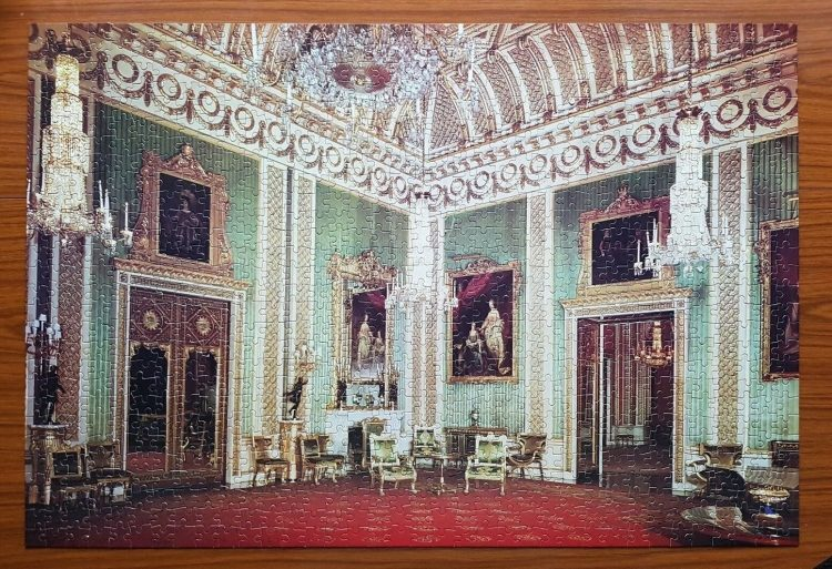 Image of the puzzle 1000, Arrow, Buckingham Palace, The Green Dining Room, Complete, Picture of the puzzle assembled