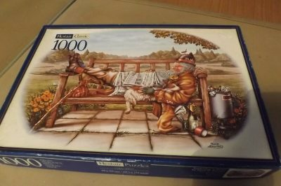Image of the puzzle 1000, Hestair, Yesterdays News, by Paul B. Davies, Complete, Picture of the box