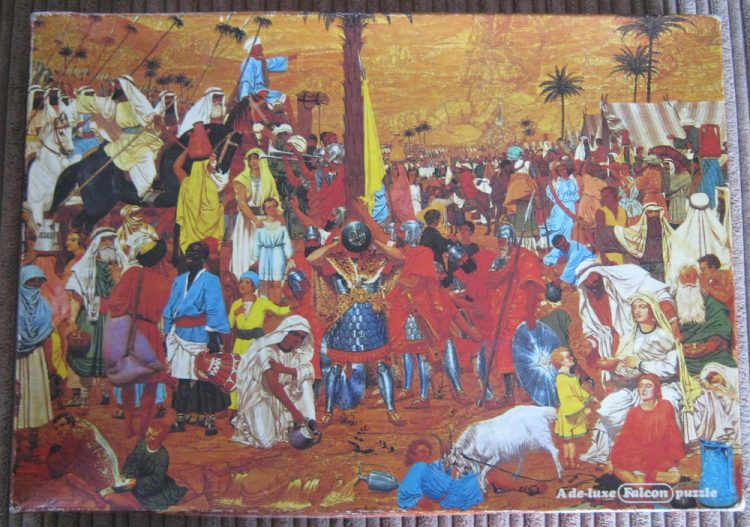 Image of the puzzle 1000, Falcon, The Flight out of Egypt, by Richard Dadd, Complete, Picture of the box