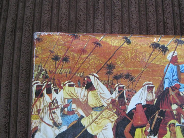 Image of the puzzle 1000, Falcon, The Flight out of Egypt, by Richard Dadd, Complete, Picture of the corner