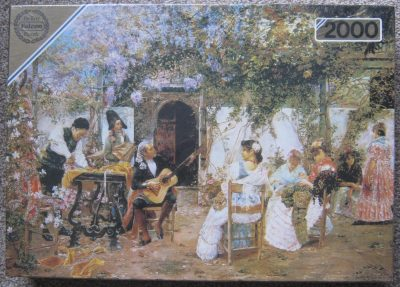 Image of the puzzle 2000, Falcon, The Serenade, by José Gallegos y Arnosa, Factory Sealed, Picture of the box