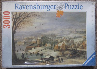 Image of the puzzle 3000, Ravensburger, Winter Landscape, Joos de Momper & Jan Brueghel the Elder, Factory Sealed, Picturel of the box