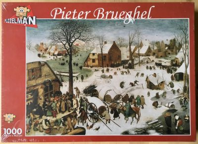 Image of the puzzle 1000, Puzzelman, The Census at Bethlehem, by Pieter Bruegel the Elder, Factory Sealed