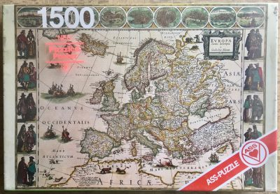 "Image of the puzzle 1500, ASS, An Old Map of Europe from ""Atlas Novus"", Factory Sealed"