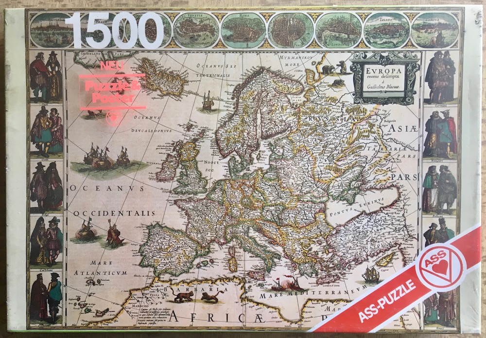 1500, ASS, An Old Map of Europe from \