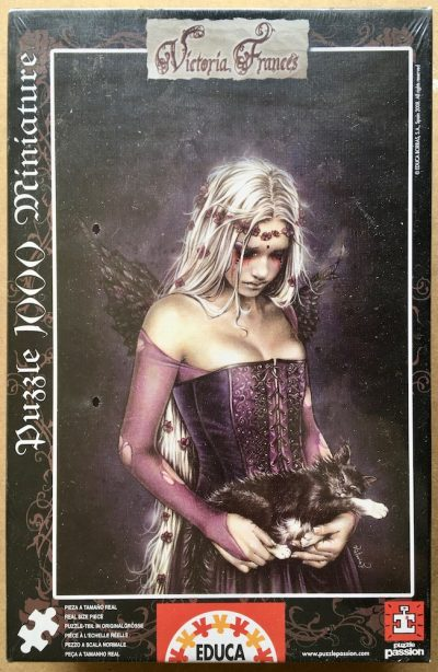 Image of the puzzle 1000, Educa, Angel of Death, by Victoria Francés (Miniature)