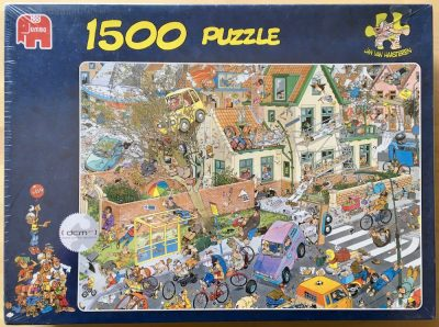 Image of the puzzle 1500, Jumbo, The Storm, by Jan van Haasteren