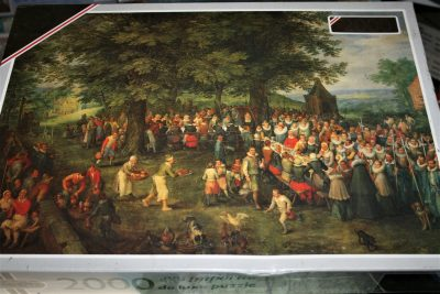 Image of the puzzle 2000, Falcon, The Wedding Feast, Jan Brueghel the Elder, Picture of the box