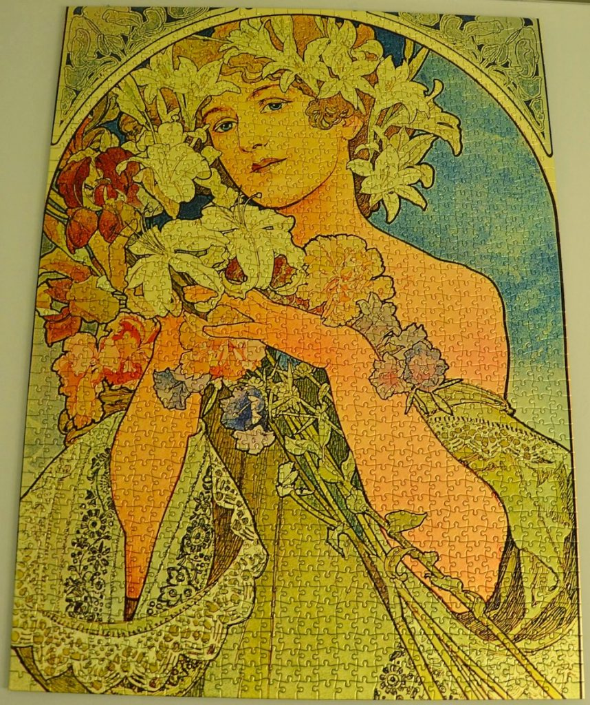 Image of the puzzle 1500, International Team, Liberty Puzzle, by Alphonse Mucha