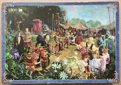 Image of the puzzle 1500, Jumbo, The Goblin Fair, by James Christensen, Sealed Bag, Picture of the box