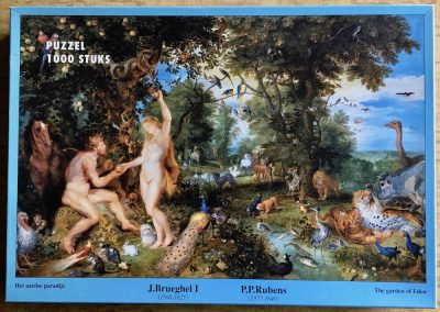 Image of the puzzle 1000, Mauritshuis, The Garden of Eden, by Jan Brueghel the Elder & Peter Paul Rubens, Complete, Picture of the box