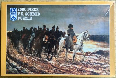 Image of the puzzle 2000, F.X. Schmid, Napoleon on Campaign, by Ernest Meissonier, Factory Sealed