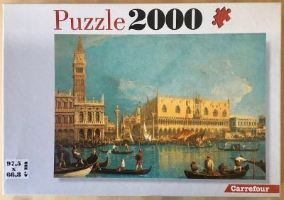 Image of the puzzle 2000, Carrefour, Venice, by Canaletto, Complete, Picture of the box