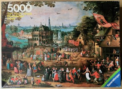 Image of the puzzle 5000, Ravensburger, Country Fair, by David Vinckboons, Complete, Picture of the box