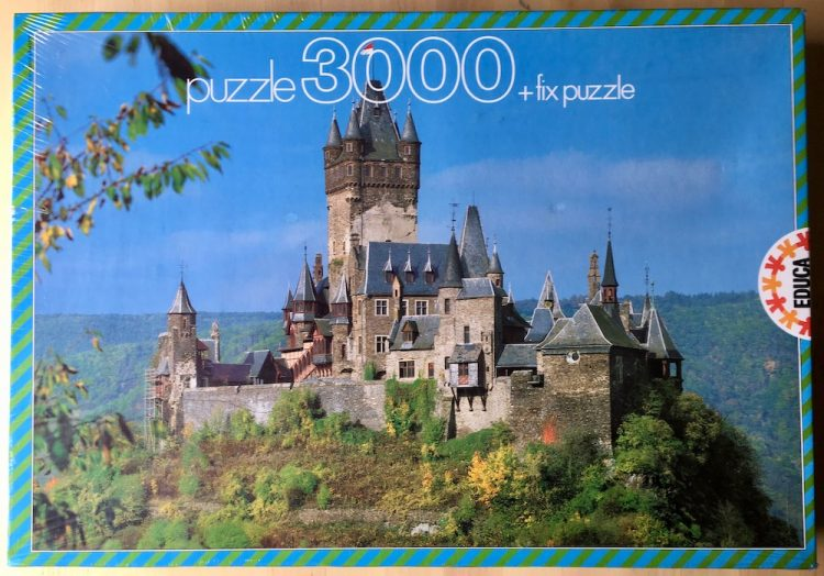 Image of the puzzle 3000, Educa, The Castle of Cochem, Germany, Factory Sealed,