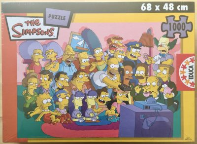 Image of the puzzle 1000, Educa, The Simpsons, by Matt Groening, Factory Sealed