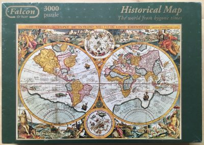Image of the puzzle 3000, Falcon, Historical Map, by Petrus Plancius, Factory Sealed