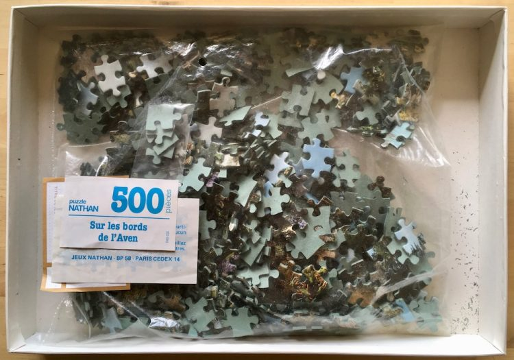 Image of the puzzle 5000, Nathan, Aven River Banks, Complete, Picture of the bag