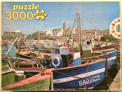 Image of the puzzle 3000, Educa, Palamós, Costa Brava, Complete, Picture of the box