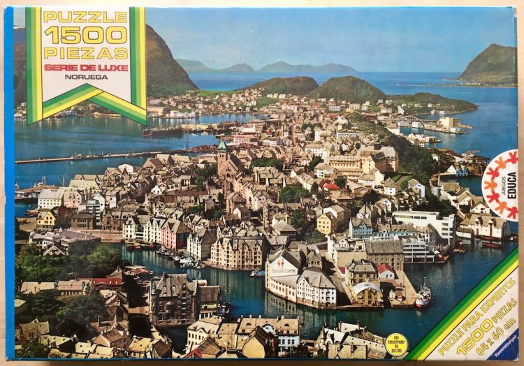 Image of the puzzle 1500, Educa, Noruega, Complete, Picture of the box