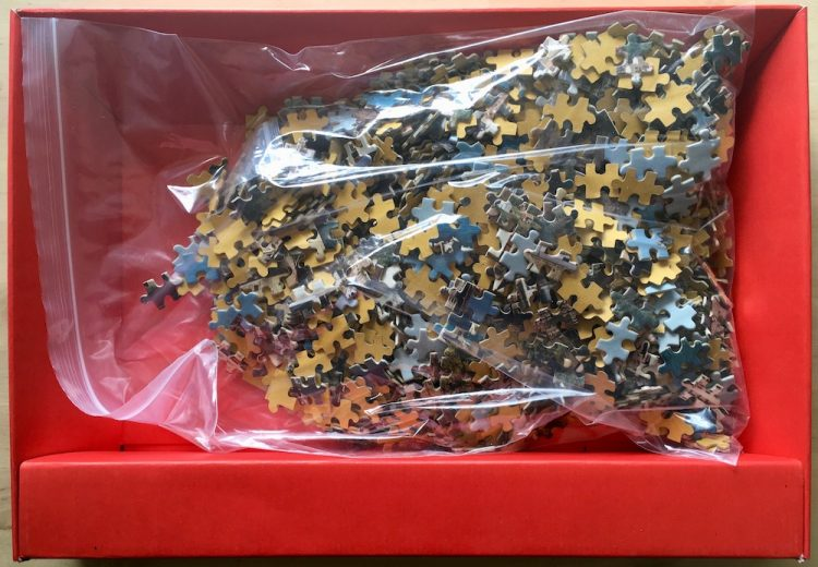 Image of the puzzle 1500, Educa, Noruega, Complete, Picture of the bag