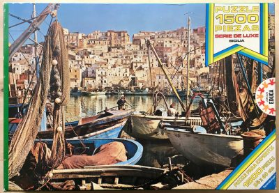 Image of the puzzle 1500, Educa, Sicilia, Complete, Picture of the box