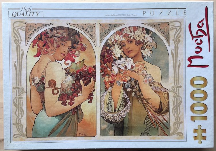 Image of the puzzle 1000, D-Toys, Fruit & Flower, by Alphonse Mucha, Factory Sealed