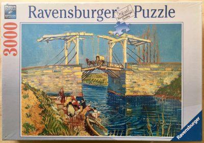 Image of the puzzle 3000, Ravensburger, Langlois Bridge, by Vincent van Gogh, Factory Sealed