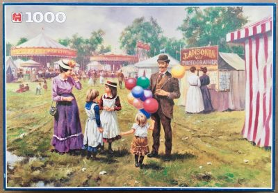 Image of the puzzle 1000, Jumbo, After a Day at the Fair, by John Seery Lester, Complete, Picture of the box