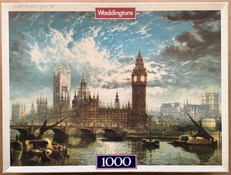 Image of the puzzle 1000, Waddingtons, The Houses of Parliament, by John Macvicar Anderson, Complete, Picture of the box
