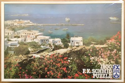 Image of the puzzle 1500, F.X. Schmid, Mykonos, Greece, Factory Sealed