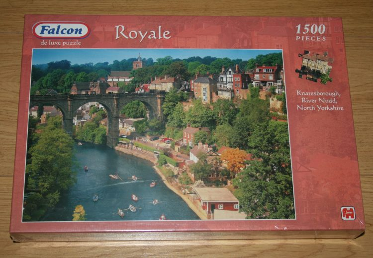 Image of the puzzle 1500, Falcon, Knaresborough, River Nudd, North Yorkshire, Factory Sealed