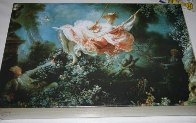 Image of the puzzle 1000, Past Times, The Swing, by Jean-Honoré Fragonard, Factory Sealed,