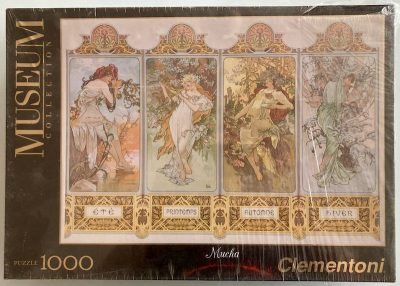Image of the puzzle 1000, Clementoni, The Four Seasons, Alphonse Mucha, Factory Sealed