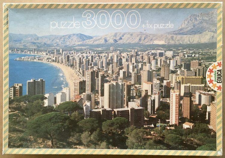 Image of the puzzle 3000, Educa, Benidorm, Alicante, Picture of the box