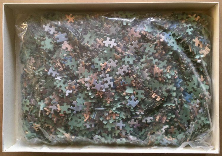 Image of the puzzle 3000, Educa, Benidorm, Alicante, Picture of the bag