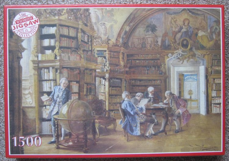 Image of the puzzle 1500, WHSmith, In the Library, by Johann Hamza, Factory Sealed