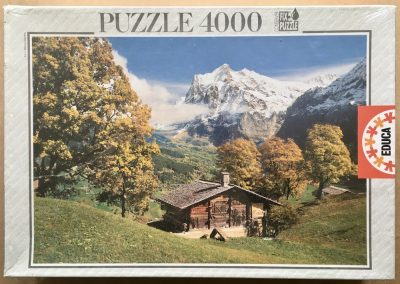 Image of the puzzle 4000, Educa, The Swiss Countryside, Factory Sealed