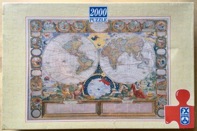 Image of the puzzle 2000, F.X. Schmid, Classical World Map, by Jean-Baptiste Nolin, Factory Sealed