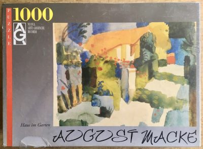 Image of the puzzle 1000, Ricordi, House in the Garden, by August Macke, Factory Sealed