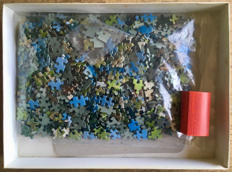 Image of the puzzle 1000, Educa, Tarasp Castle, Switzerland, Complete, Picture of the bag