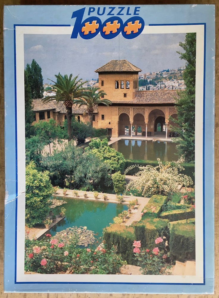 Image of the puzzle 1000, Educa, La Alhambra, Granada, Complete, Picture of the box