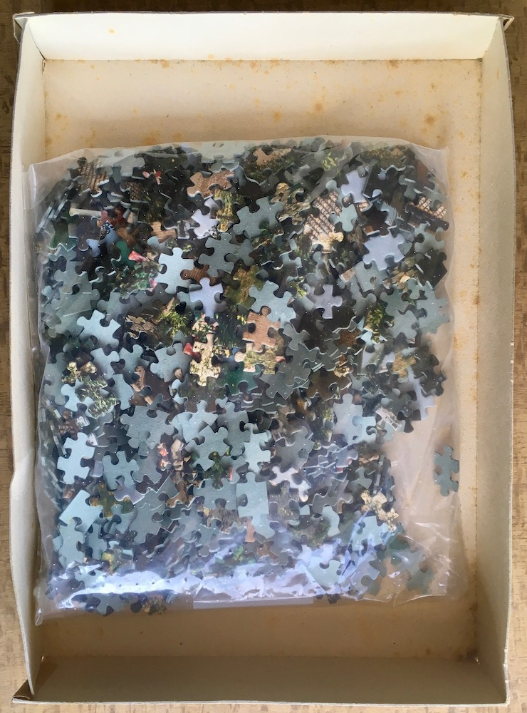 Image of the puzzle 1000, Educa, La Alhambra, Granada, Complete, Picture of the bag