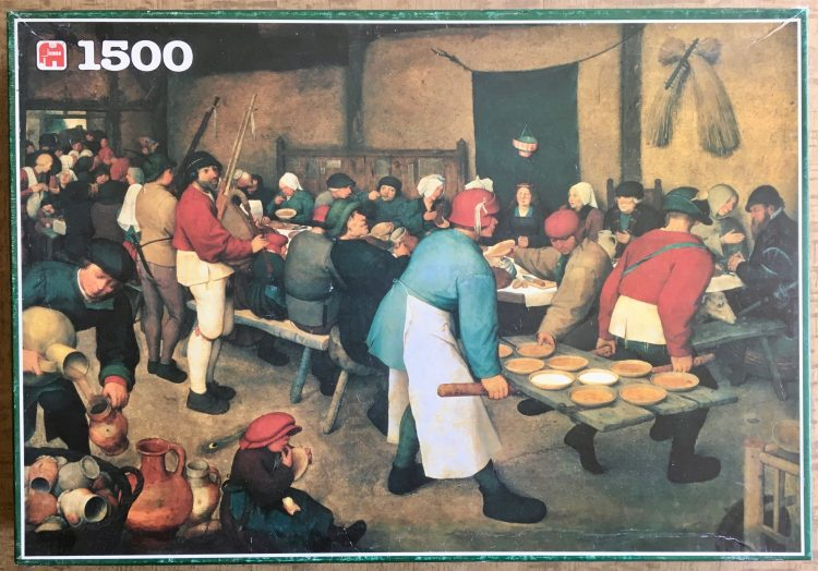 Image of the puzzle 1500, Jumbo, Peasant Wedding, by Pieter Bruegel the Elder, Complete, Picture of the box